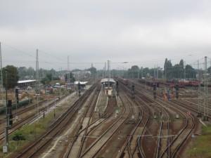 Baufeld von der Bahnhofsbrücke