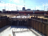 Erstes und zweites Tunnelsegment der Stadt Anfang September 2016