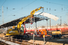Januar 2017, Bahnsteig 9/10: Abbau des alten Daches