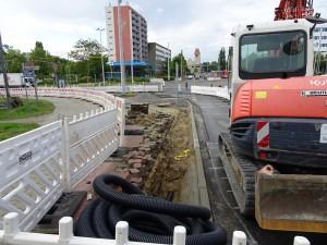Baustelle vor Knappschaft (1)