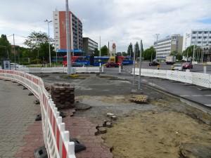 Baustelle vor Knappschaft (2)