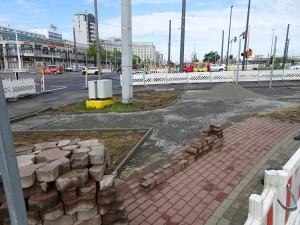 Baustelle vor Knappschaft (3)