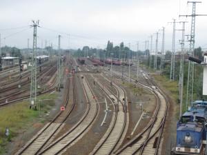 Baufeld Stadt von der Bahnhofsbrücke