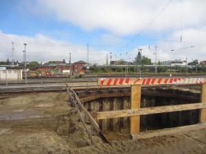 1. Tunnelsegment Bahn in Richtung Norden